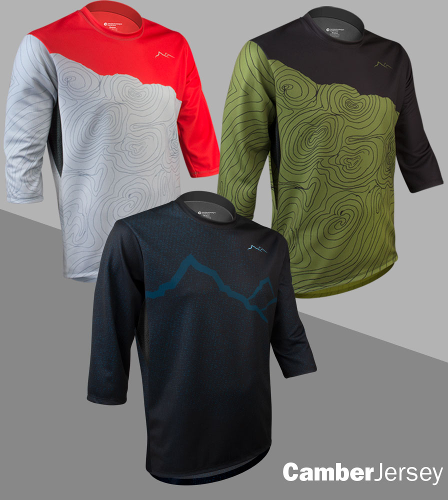 Downhill Three Quarter Sleeve MTB Jerseys