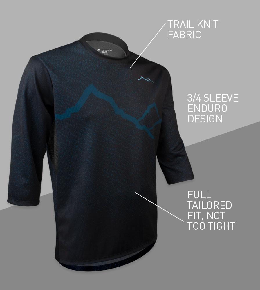 Dark Mountain MTB Downhill Bike Jersey Front Features
