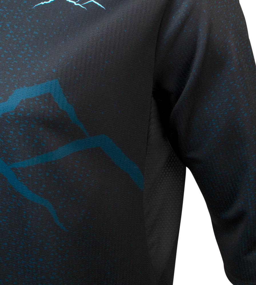 Dark Mountain Three Quarter Sleeve Downhill MTB Jersey Underarm Mesh Detail