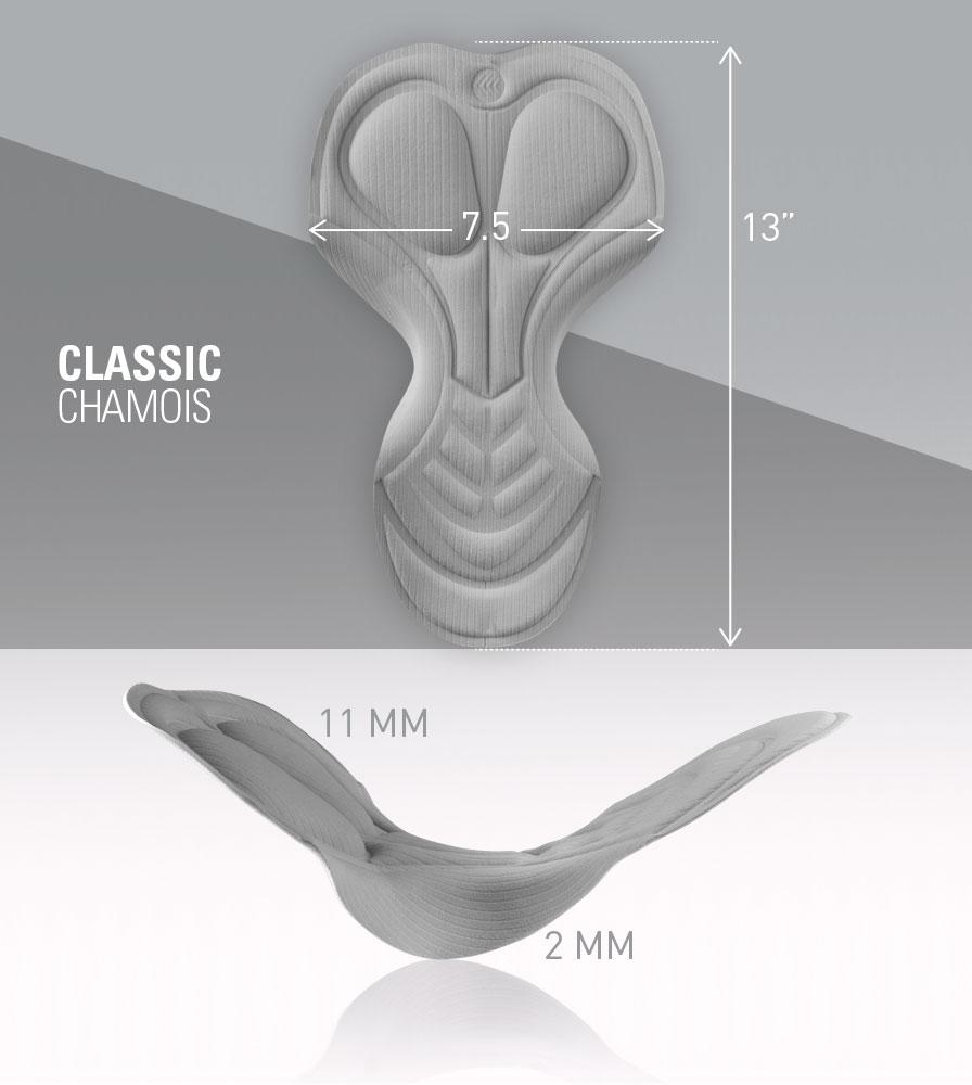 Classic Chamois Pad Dimensions