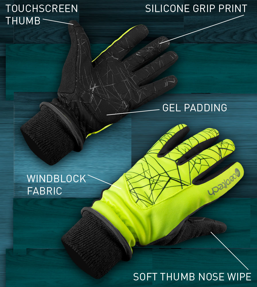 Heavy Weight Full Finger Cycling Glove Features