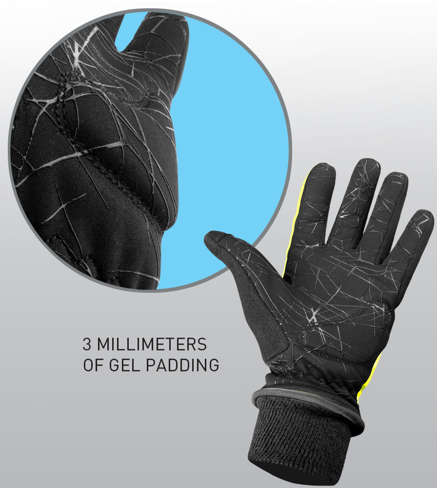 Silicone Gripper and Gel Padded Palm Info Graphic