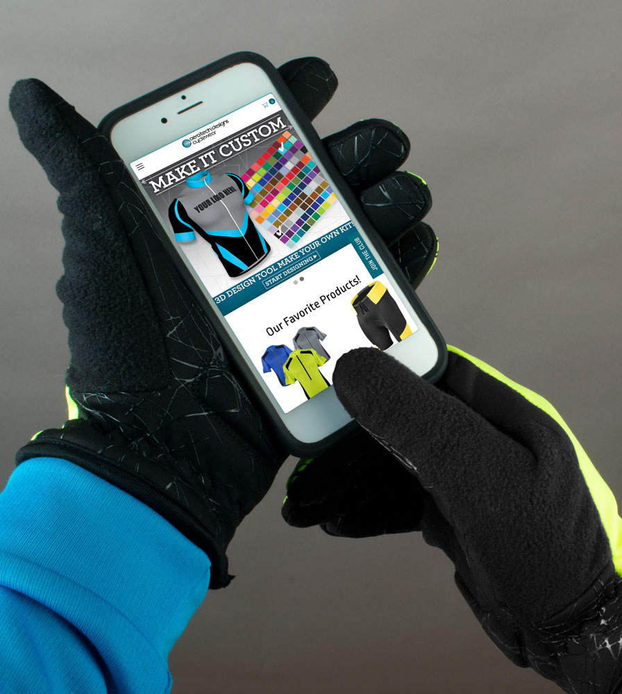 Cell Phone Touch Screen Winter Bike Glove