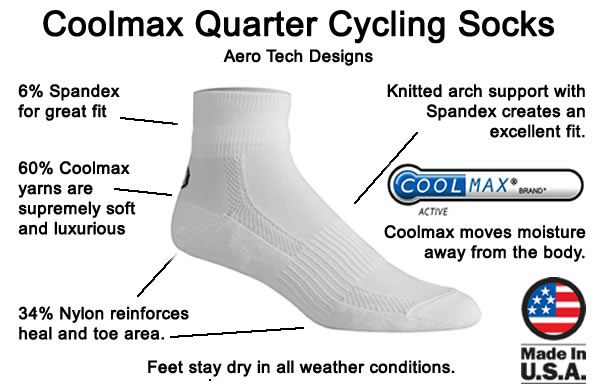 coolmax cycling socks features