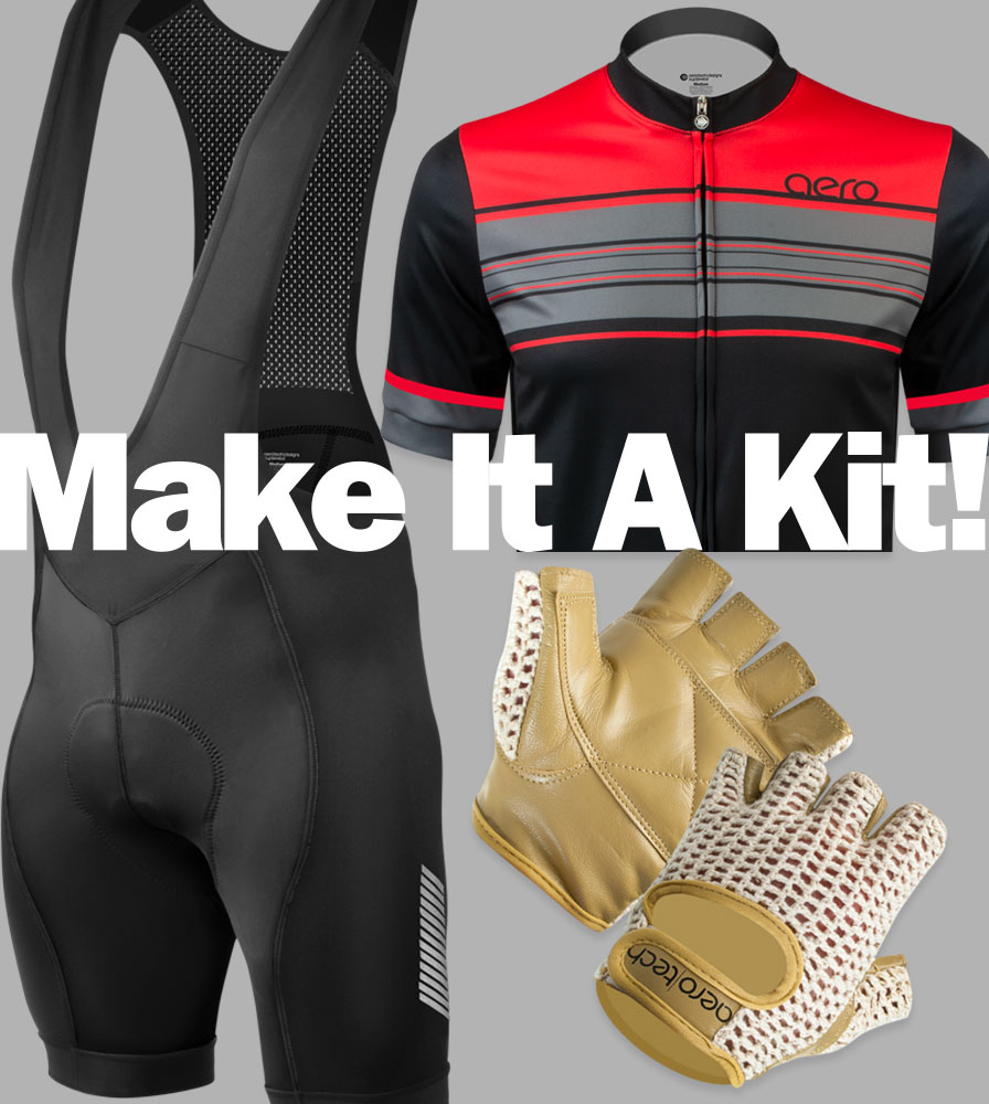 Natural Cotton and Crochet Leather Cycling Gloves fits any Kit