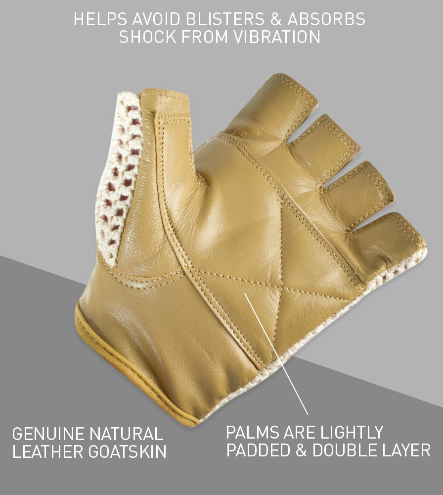 Double Layered Genuine Goatskin Leather helps Avoid Blisters and Absorbs Shock
