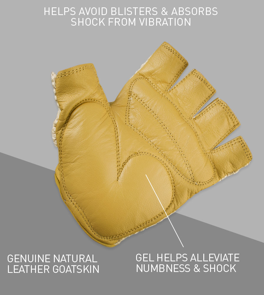 Gel Padded Crochet Cycling Gloves Back Features