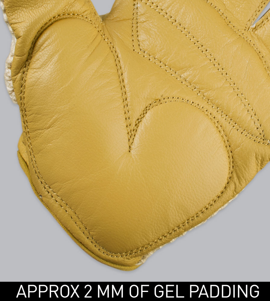 2MM of Gel Padding and Leather on the Gel Padded Cotton and Leather Crotchet Cycling Gloves