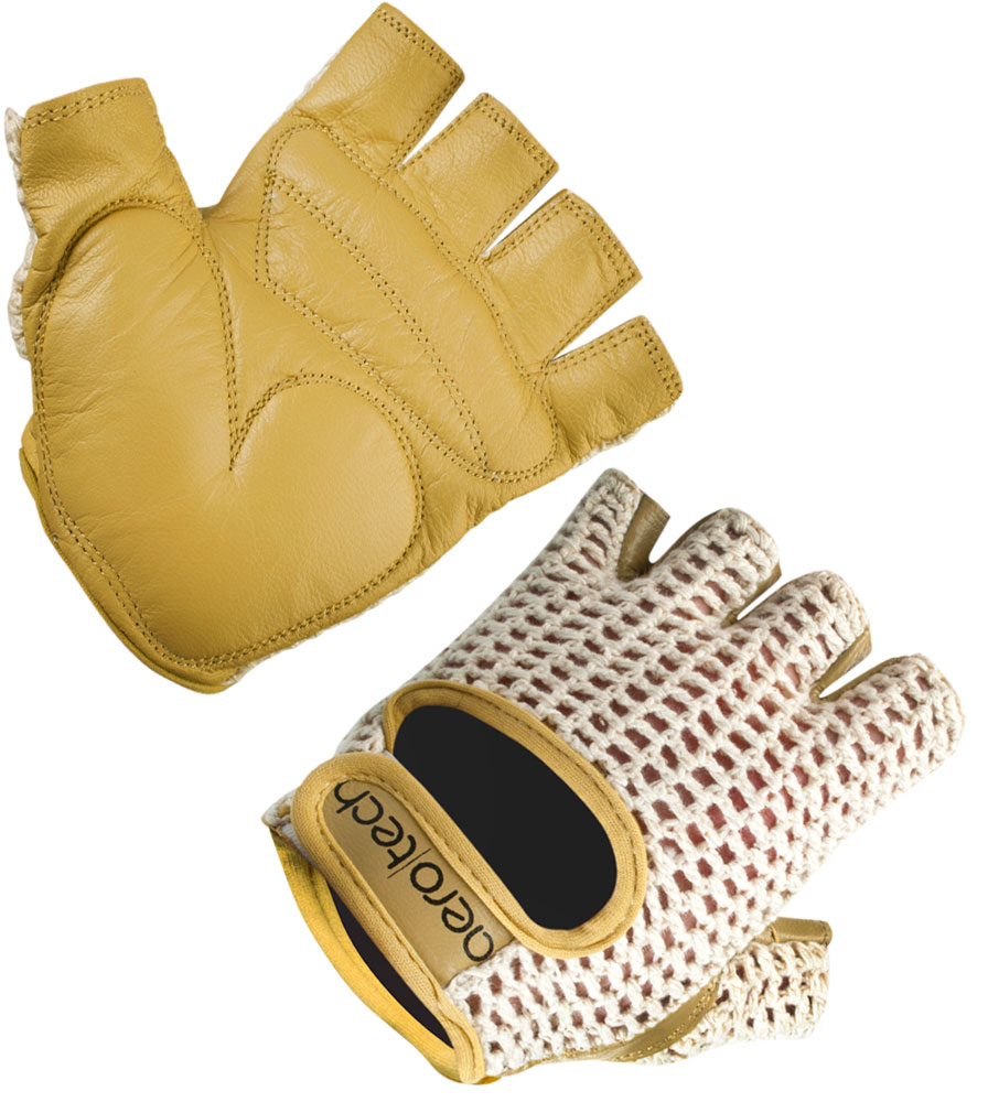Gel Padded Palm Cotton Crotchet Cycling Gloves