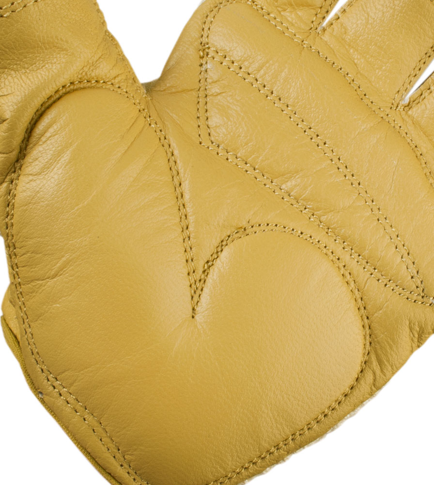 Gel Padded Palm Detail on the Leather Crotchet Cycling Glove