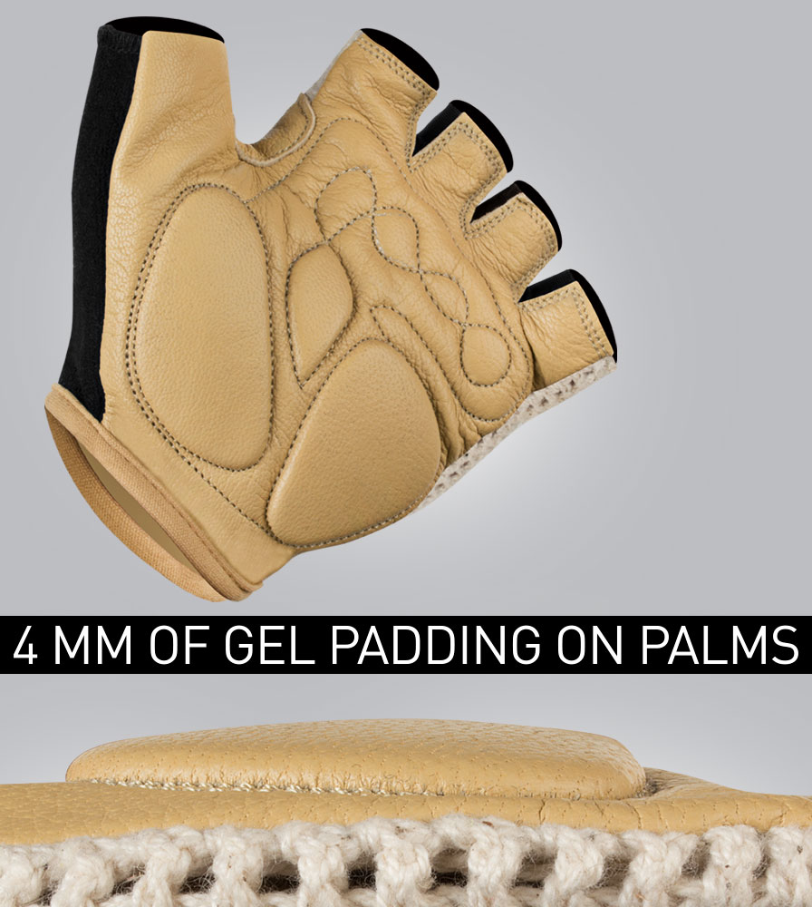 4MM of Gel Padding on the Extra Gel Padded Crotchet Cycling Gloves
