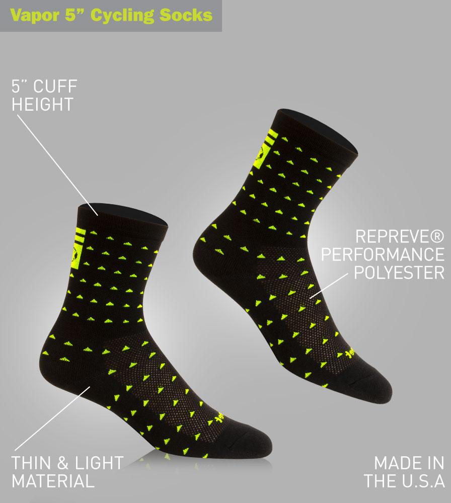 Aero Tech X DeFeet 5 Inch Vapor Cycling Sock Features