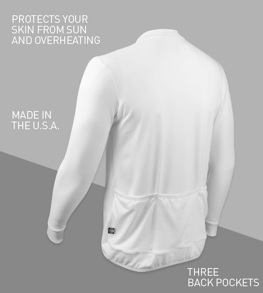 Eclipse Sun Protection Long Sleeve Cycling Jersey Back Features