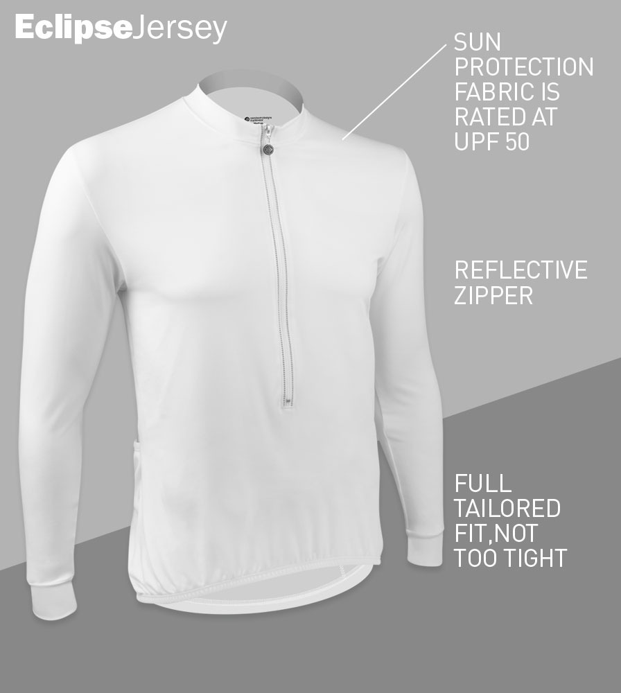 Eclipse Sun Protection Long Sleeve Cycling Jersey Front Features