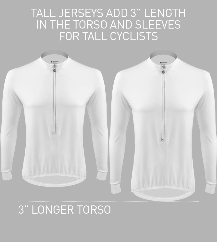 Eclipse Sun Protection Long Sleeve Tall Cycling Jersey Fit Guide