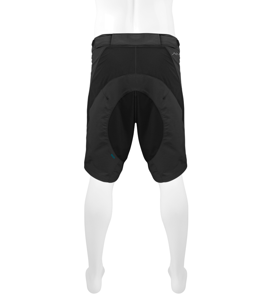 Black MTB Short Back View