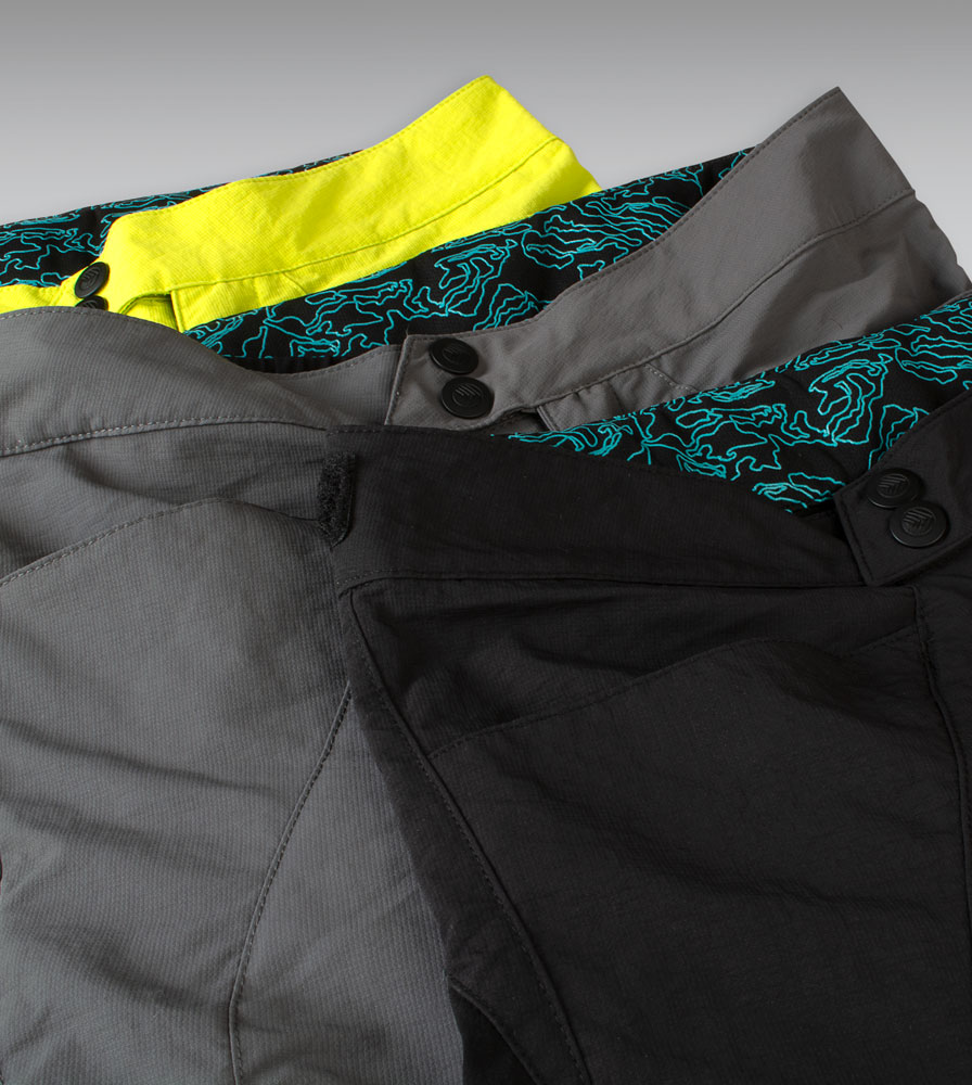 Three MTB Short Colorways
