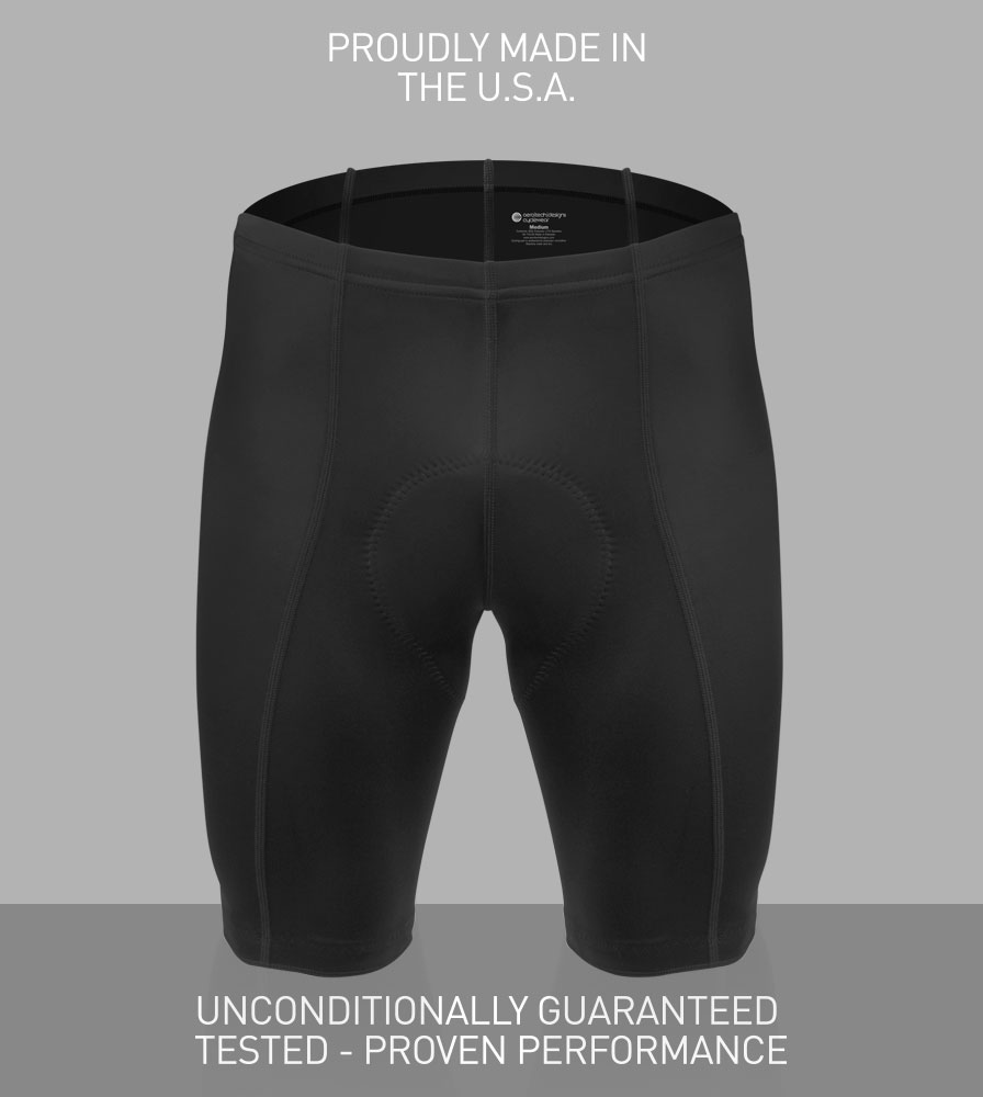 The Men's Pro Bike Shorts are Unconditionally Guaranteed against defects.