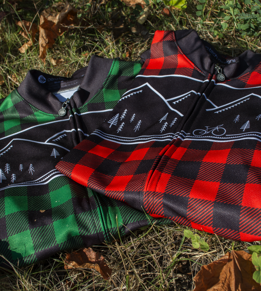Men's Long Sleeve Lumberjack Red and Green Color Options