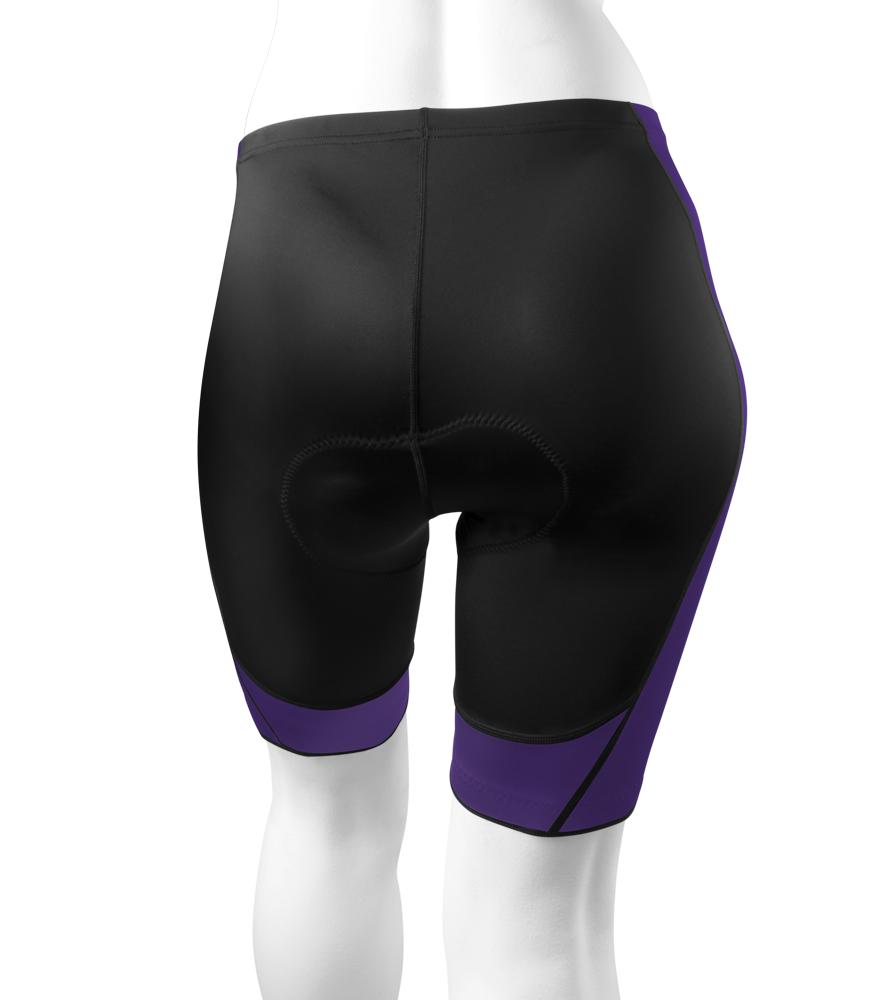 Plus Women's Purple Hourglass Cycling Shorts Back View