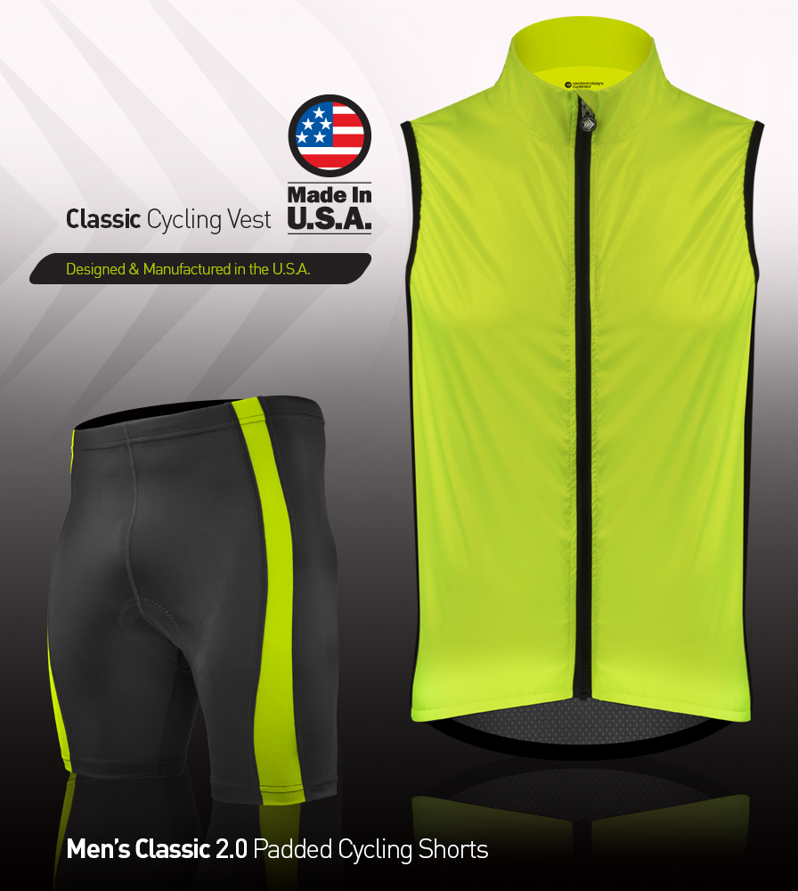 Classic Safety Yellow Cycling Wind Vest Kit