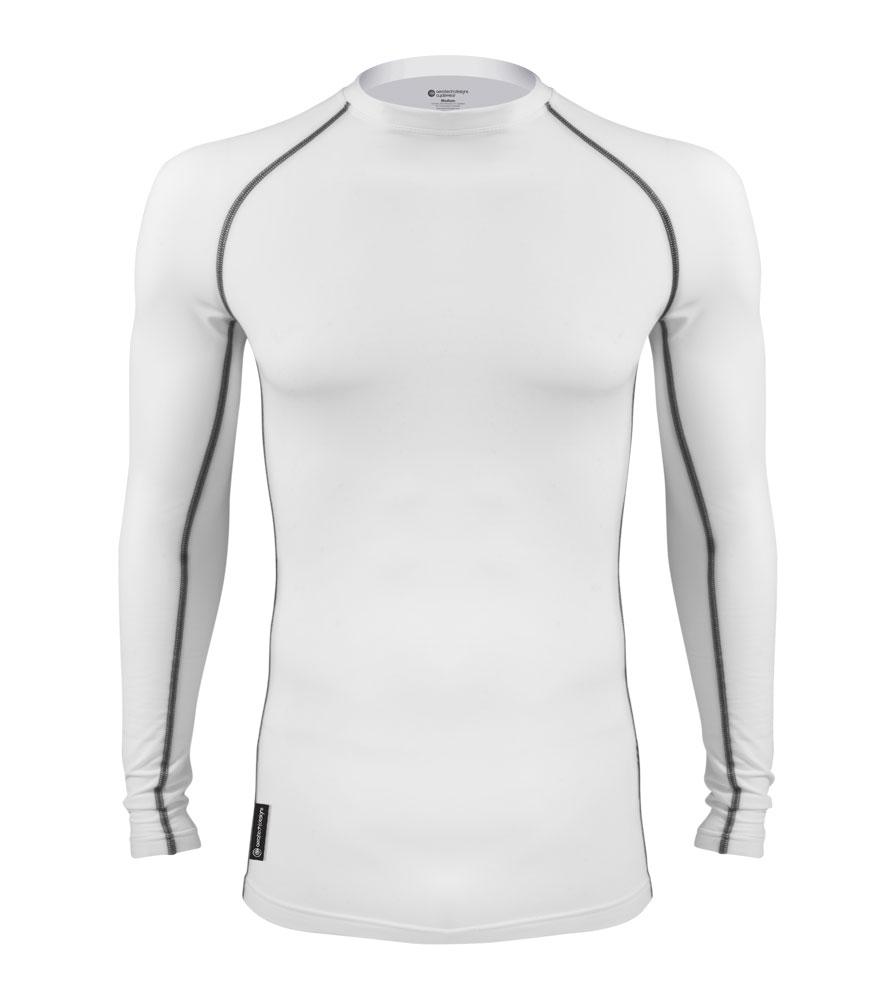 White Long Sleeve Brushed Fleece Base Layer