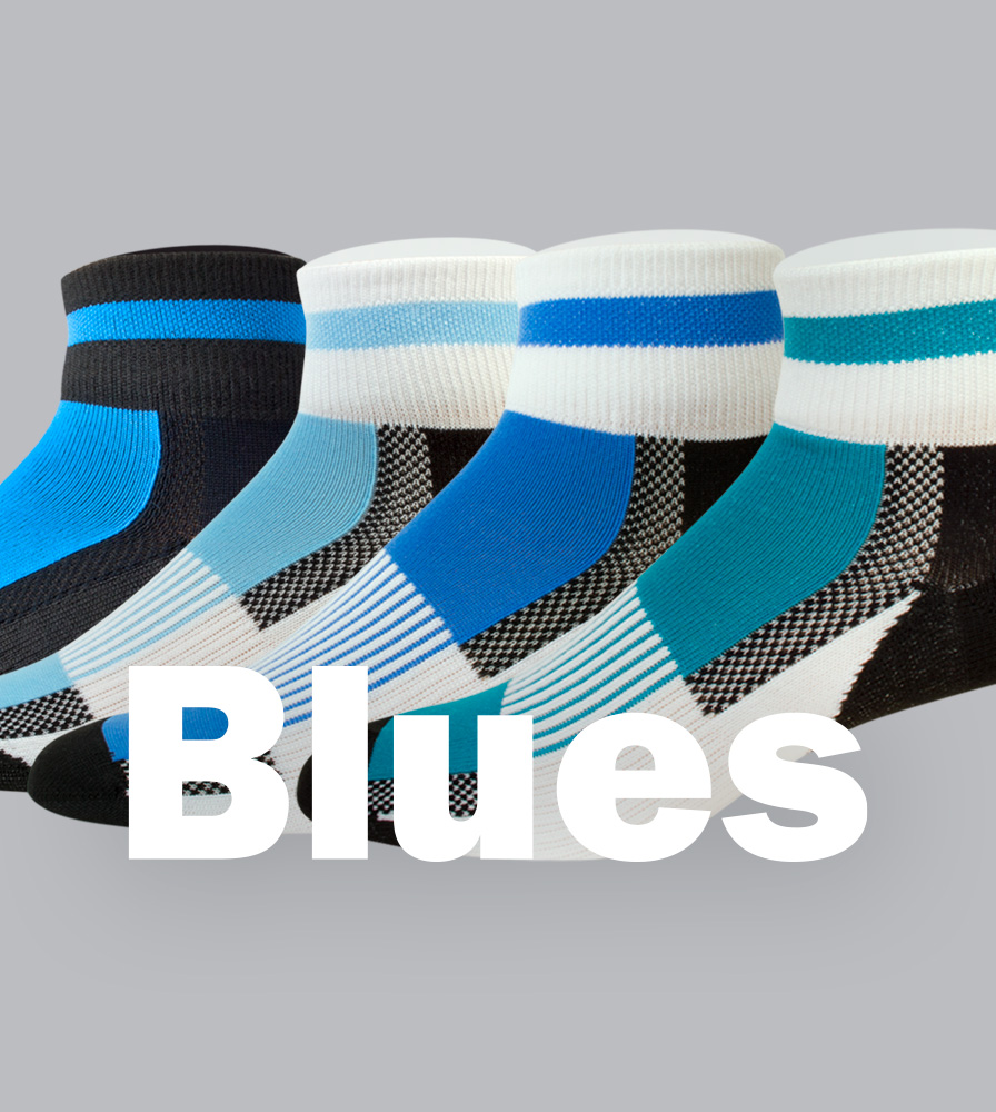 Coolmax Cycling Sock Blue Color Options