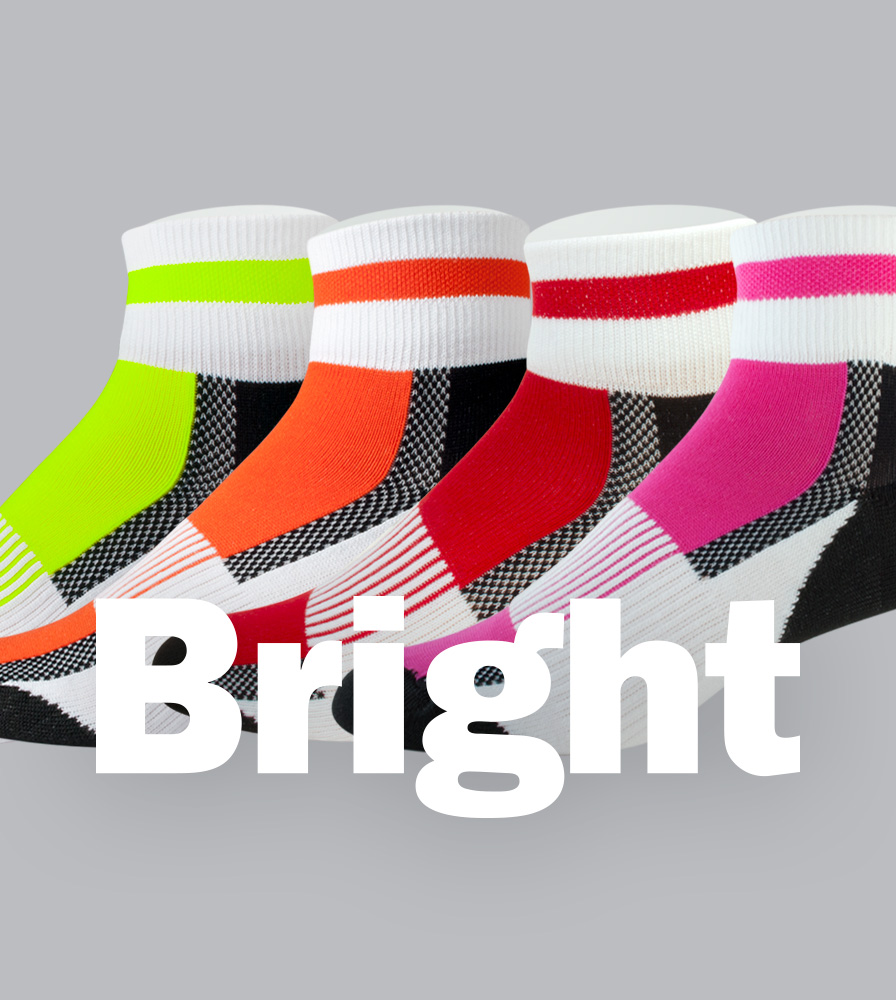 Coolmax USA Cycling Sock Bright Color Options