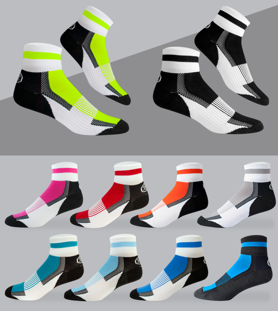 Coolmax Cycling Sock Color Options