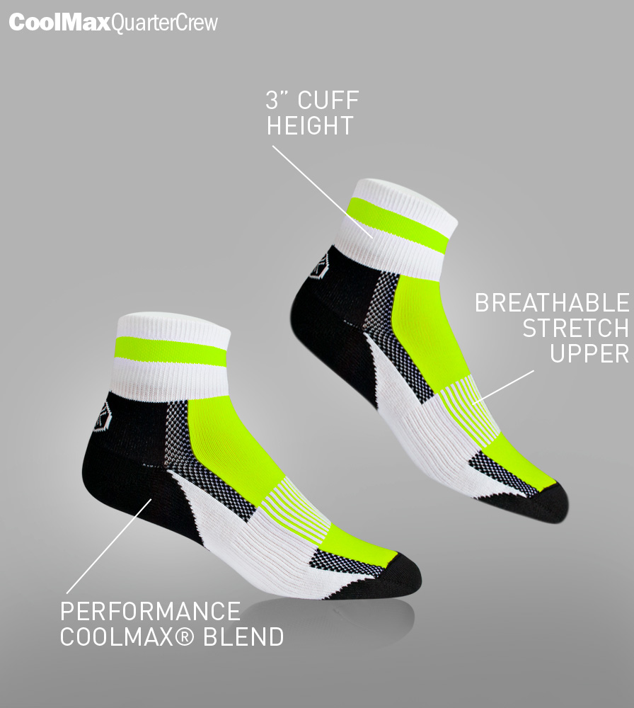 USA Coolmax Cycling Sock Features