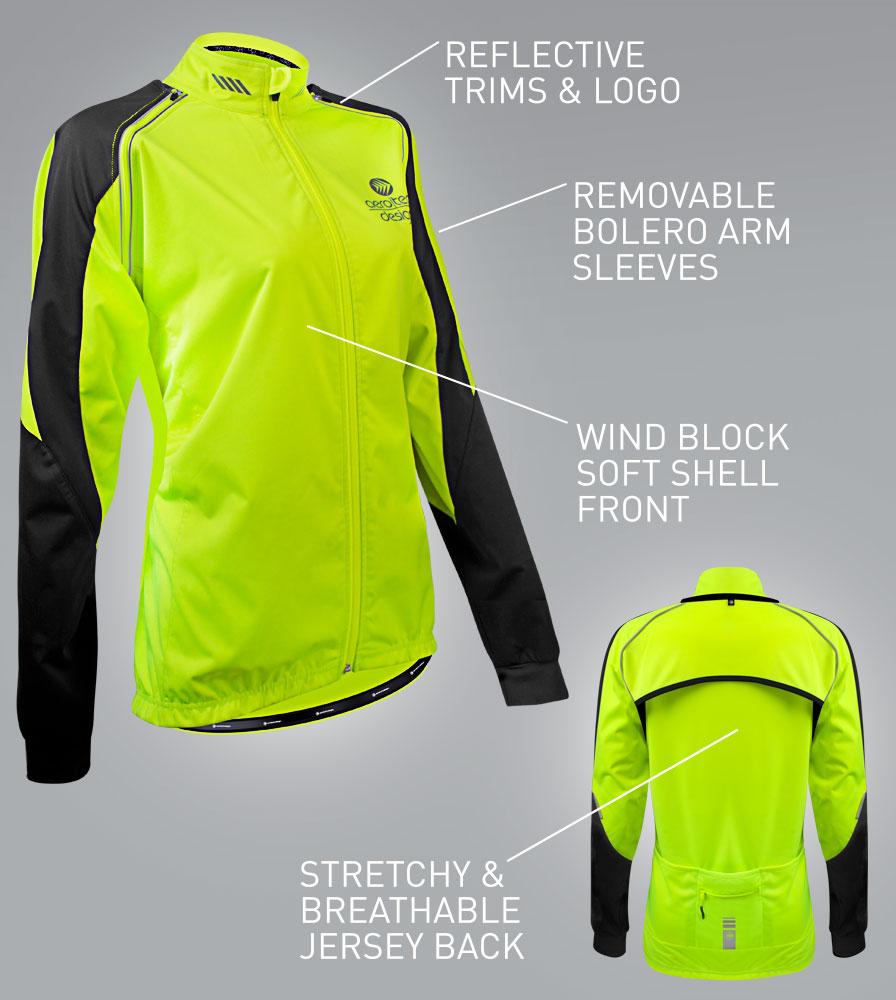 Maya Cycling Bolero Jacket Features