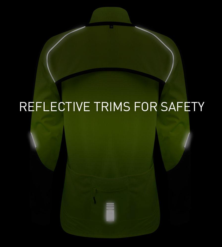 Reflective Safety Elements on the Women's Bolero Jacket