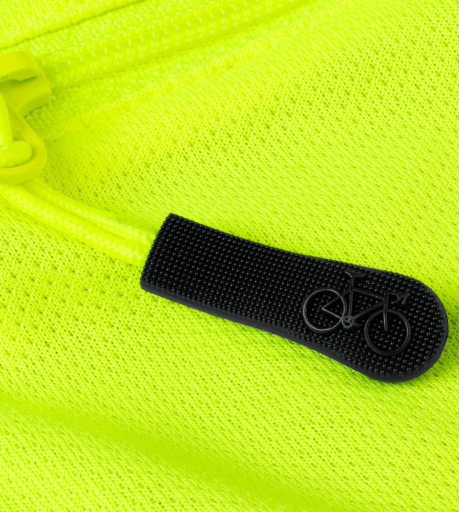 Women's Bolero Windbreaker Jacket Zipper Pull Detail
