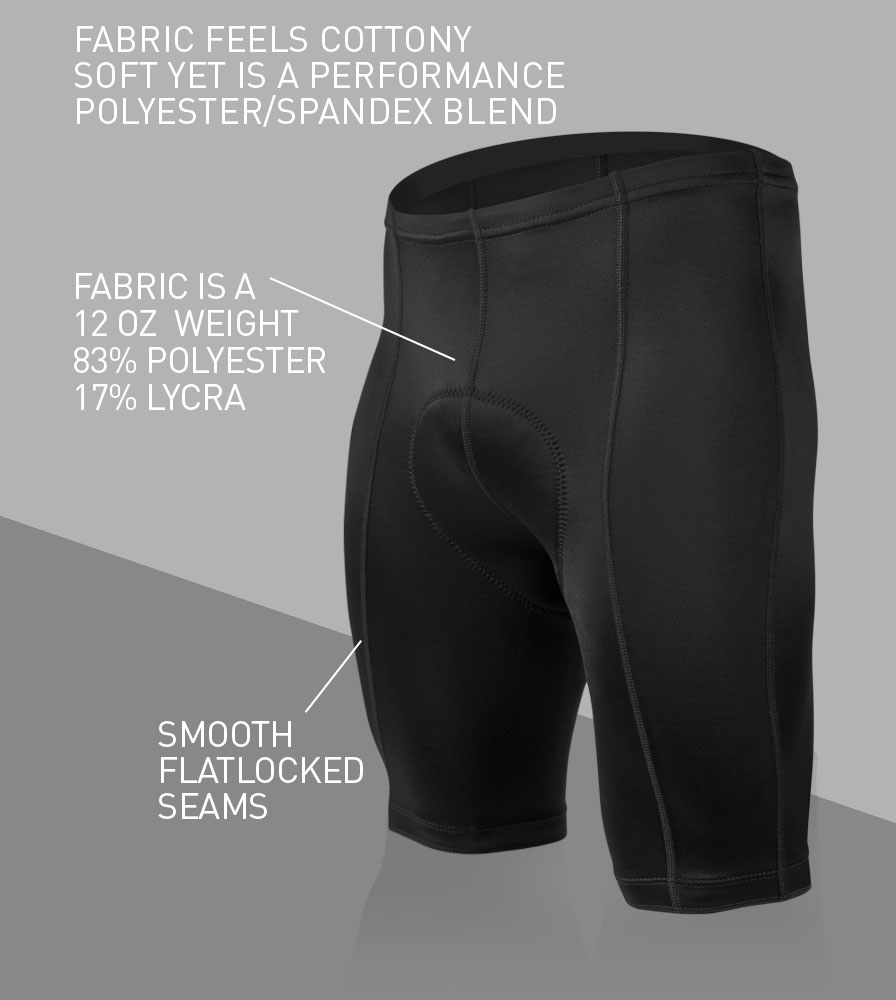 Men's Century Cycling Shorts Front Features