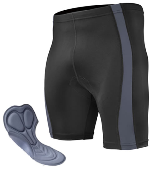 big man's charcoal bike short