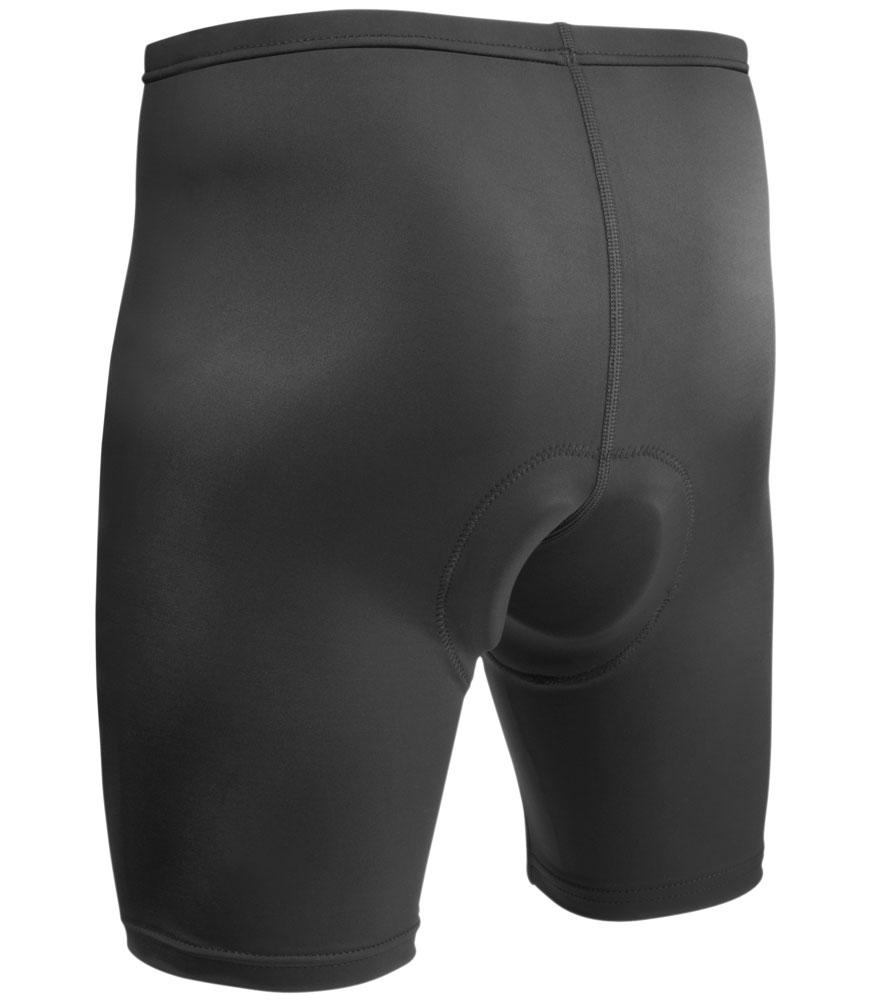 Men's USA Classic Bike Shorts in Black Back View