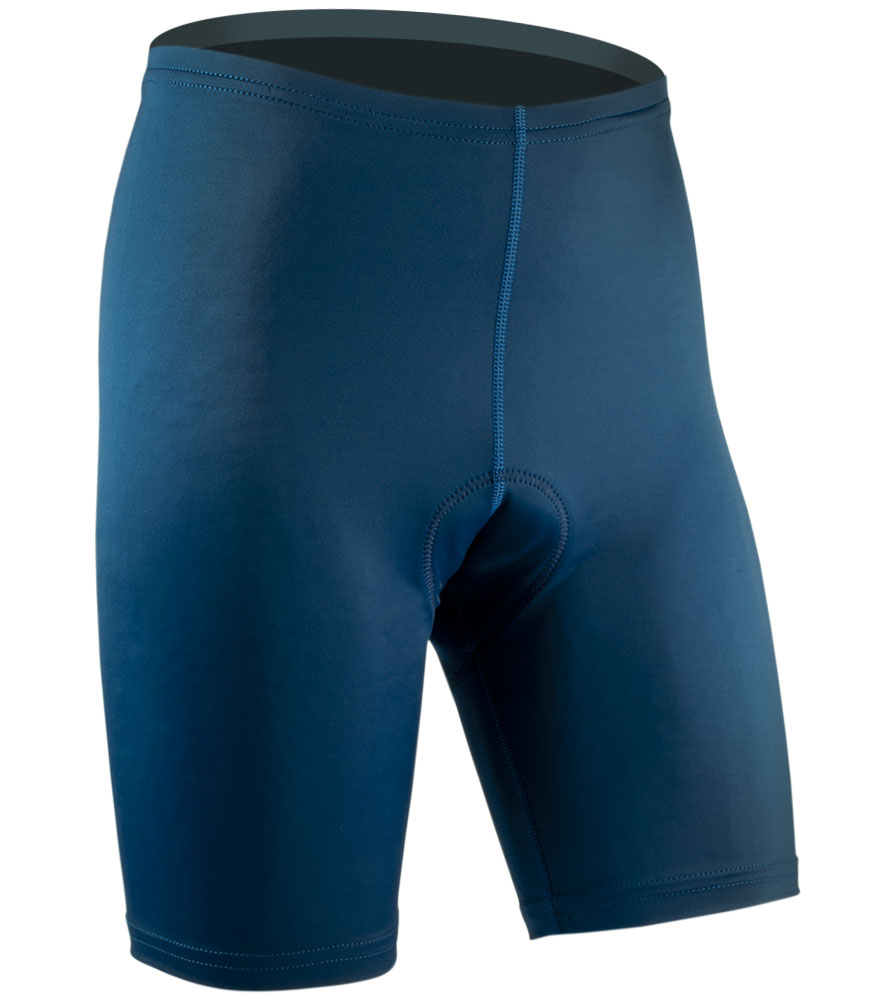 Men's USA Classic Bike Shorts in Navy Front View