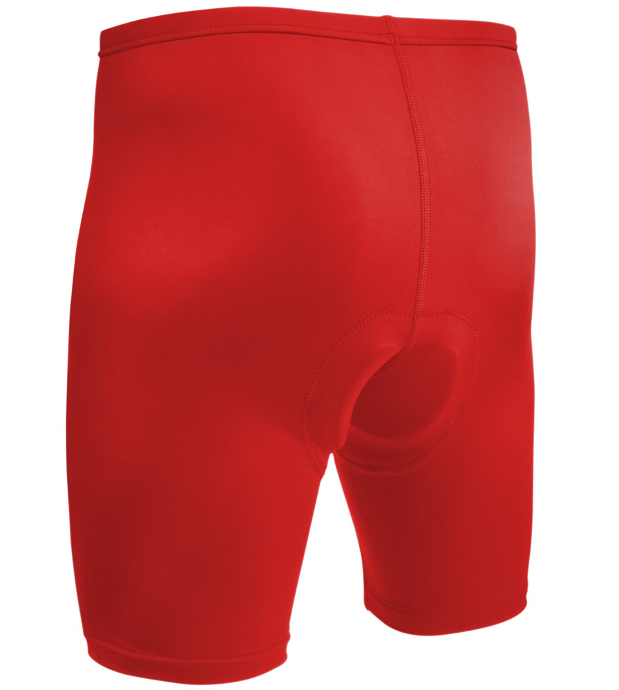 Men's USA Classic Bike Shorts in Red Back View