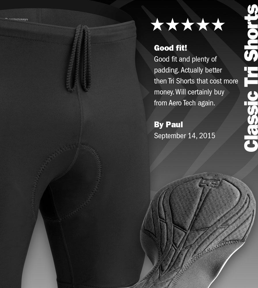 Highly Reviewed Men's Triathlon Shorts
