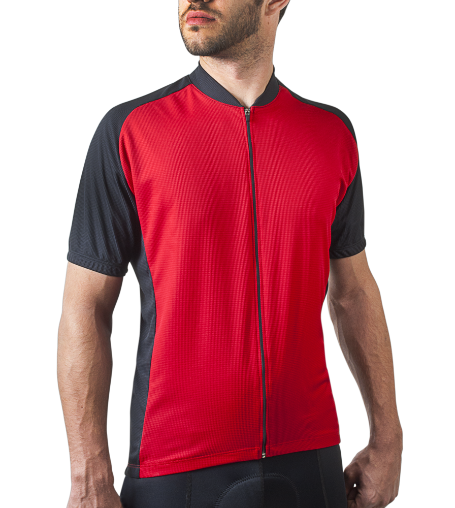 Red Men's Club Bike Jersey