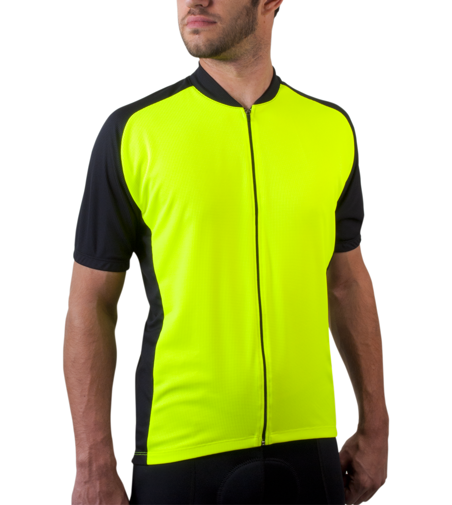 Safety Yellow Men's Club Bike Jersey