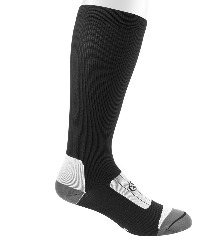 Black Compression Sock Side View