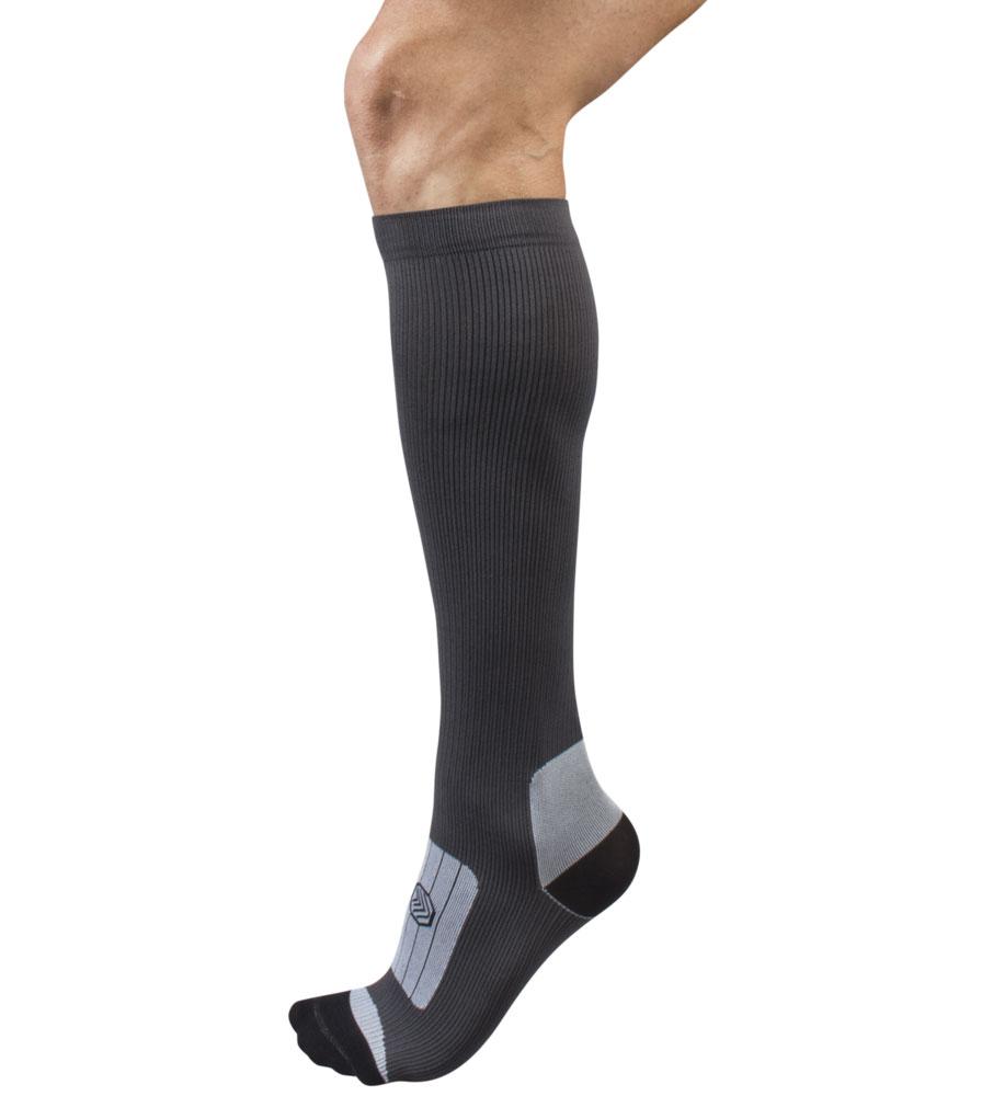 Charcoal Compression Sock Leg
