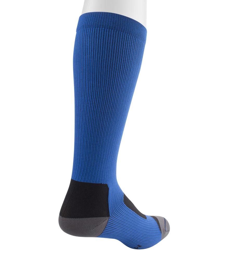 Royal Blue Compression Sock Back View