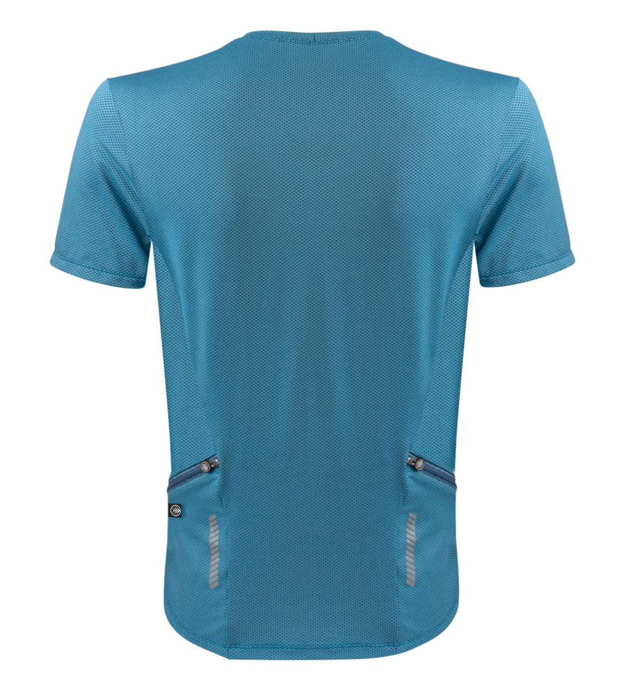 Men's Delta Performance Athletic T-Shirt Full Back View