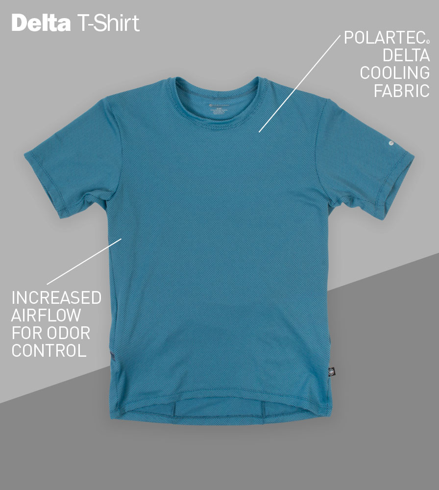 Men's Delta Performance Athletic T-Shirt Front Features
