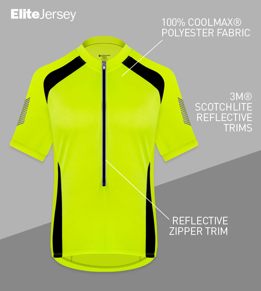 Men's Elite Cycling Jersey Front Features