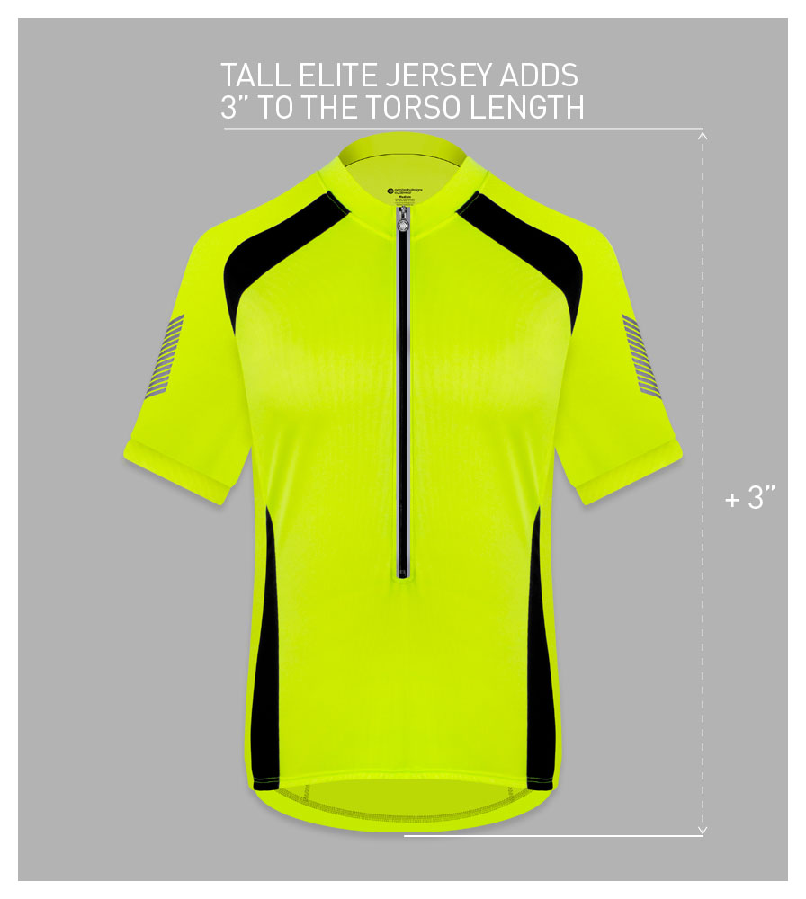Men's Tall Elite Cycling Jersey Fit Guide