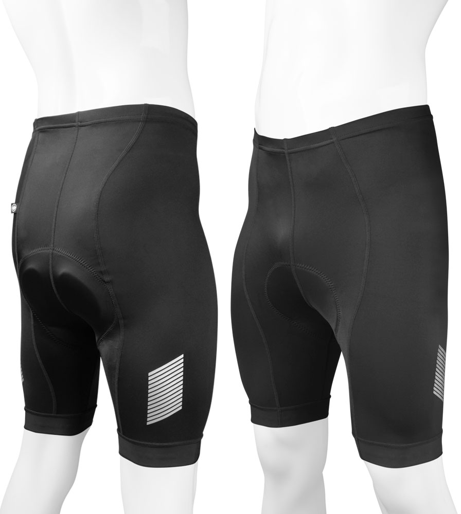Men's Black Elite Padded Cycling Shorts Group