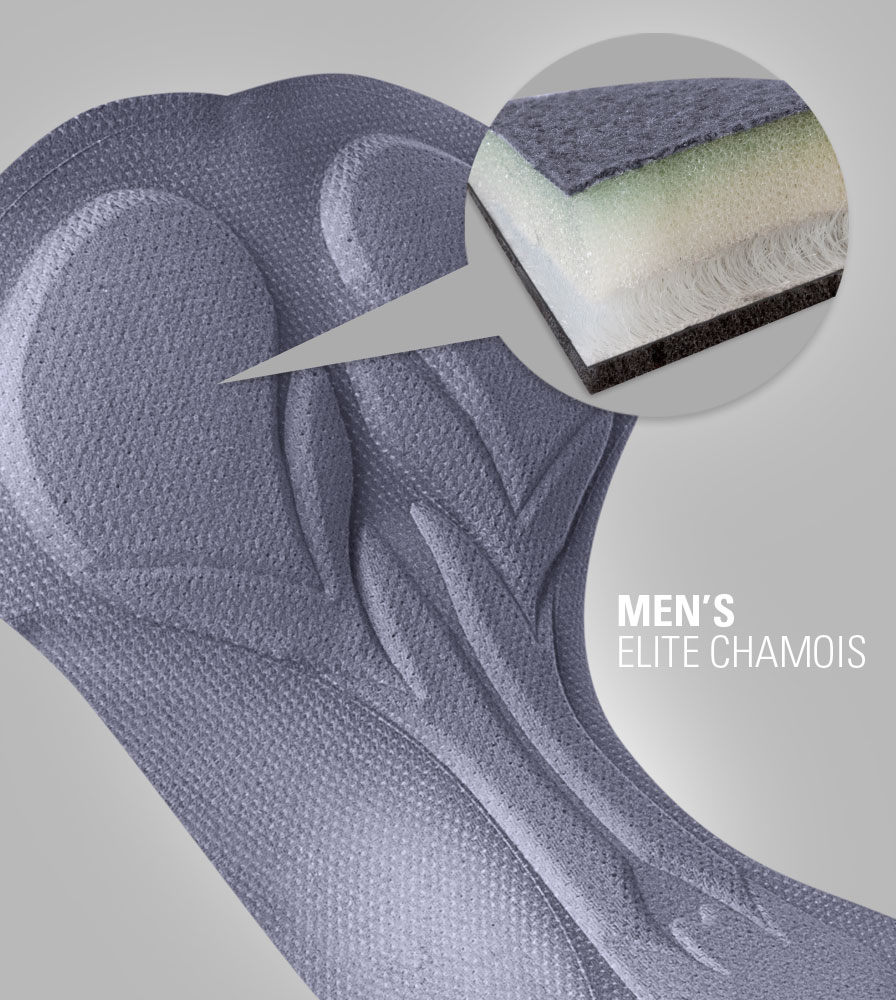 Men's Elite Chamois Pad Multi-Density Gel and Foam Detail